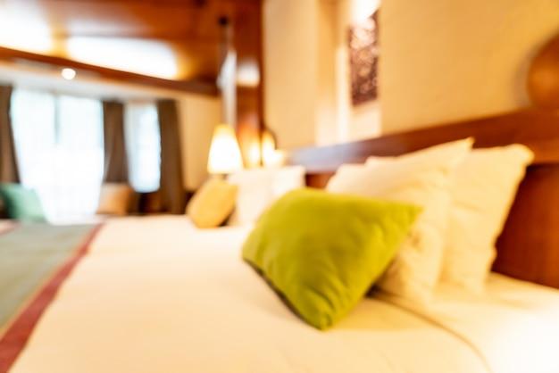Résumé flou intérieur de chambre à coucher pour le fond