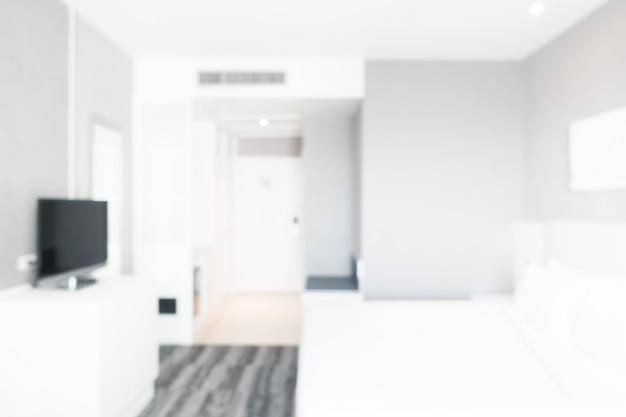 Résumé flou intérieur de chambre à coucher