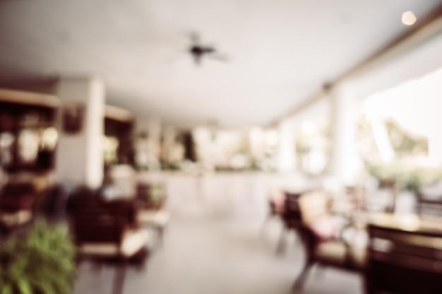 Résumé flou intérieur de restaurant