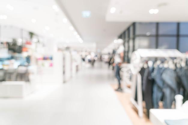 Résumé flou magasin de luxe au centre commercial