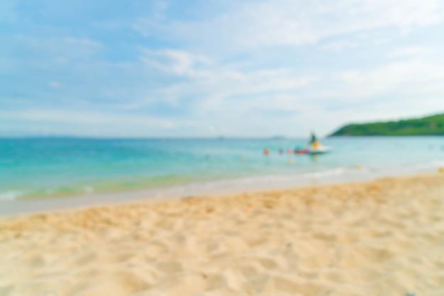 Résumé flou magnifique plage tropicale et fond de paysage de mer