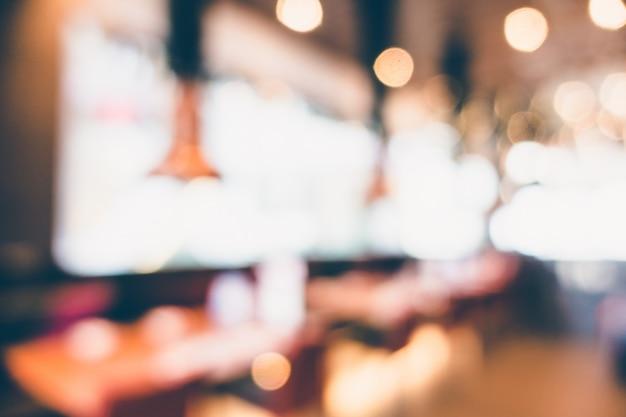 Résumé flou restaurant et café café