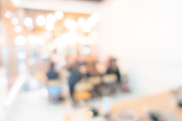 Résumé flou restaurant d'hôtel buffet