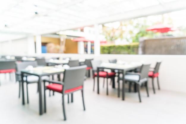 Résumé flou restaurant