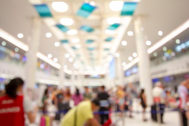 Résumé flou terminal d'aéroport et salon intérieur pour le fond