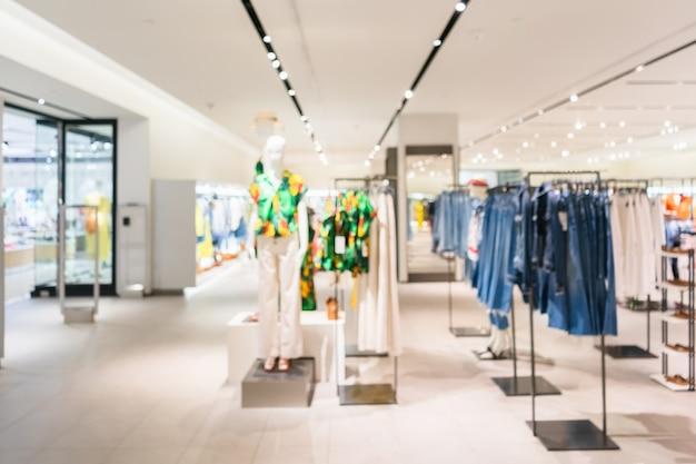 Résumé floue du magasin de vêtements de mode boutique