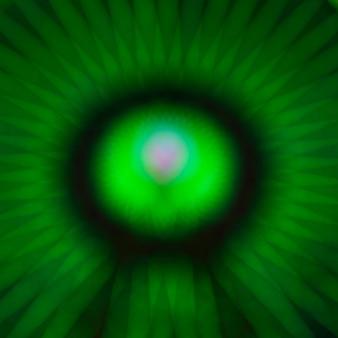 Résumé floue mouvement vert néons d'une roue merveille