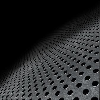 Résumé de fond avec la décoloration métal perforé dans la distance