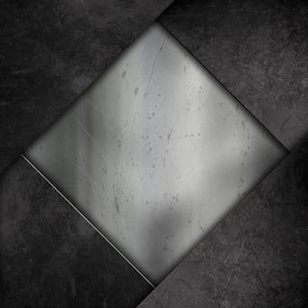 Résumé de fond avec un effet grunge métallique