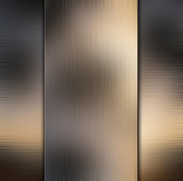 Résumé de fond métallique
