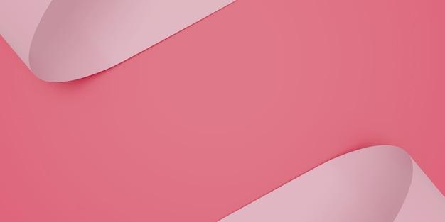Résumé fond de papier rose. toile de fond tendance tendance. illustration 3d