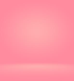 Résumé fond rouge rose clair conception de mise en page de noël et de la saint-valentin, studio, salle, modèle web, rapport d'activité avec une couleur de dégradé de cercle lisse.