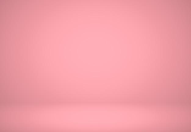 Résumé fond rouge rose conception de mise en page de noël et valentines, studio, pièce, modèle web, rapport d'affaires avec une couleur de gradient de cercle lisse.