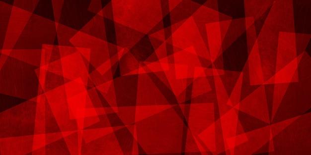 Résumé fond rouge de triangles, illustration 3d