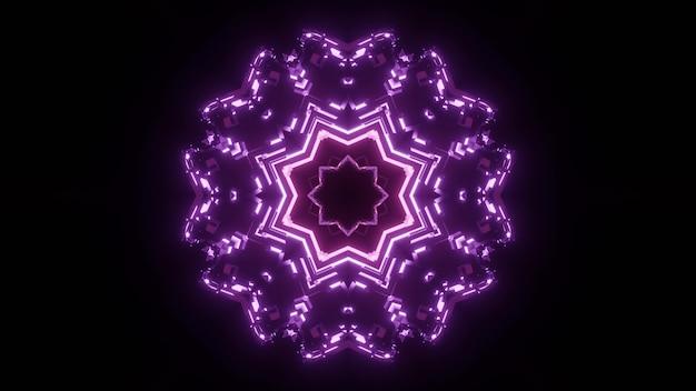Résumé fond de tunnel ornemental brillant avec néon violet