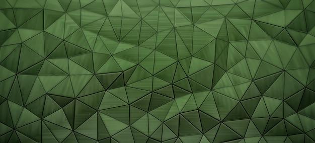 Résumé fond vert du diagramme de voronoi, rendu 3d