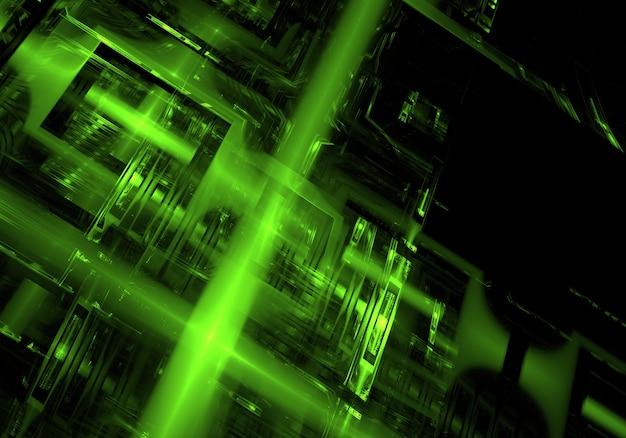 Résumé fond vert de la technologie