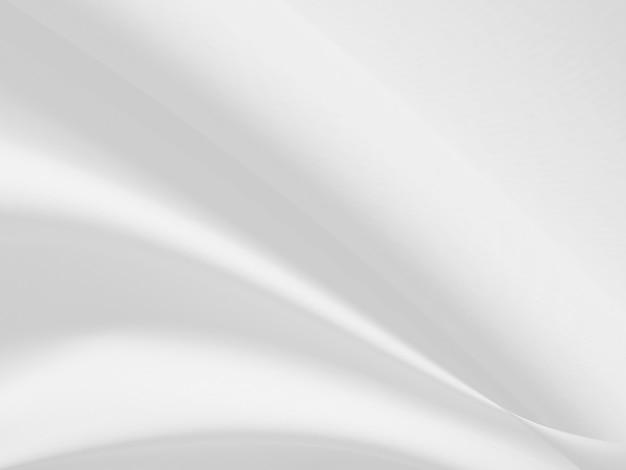 Résumé de fond de vêtements blancs avec des vagues douces.