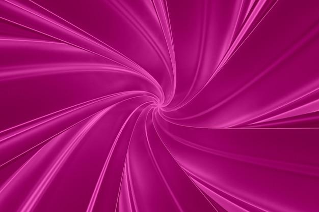 Résumé fond violet de torsion de bandes tridimensionnelles dans l'illustration 3d du tunnel