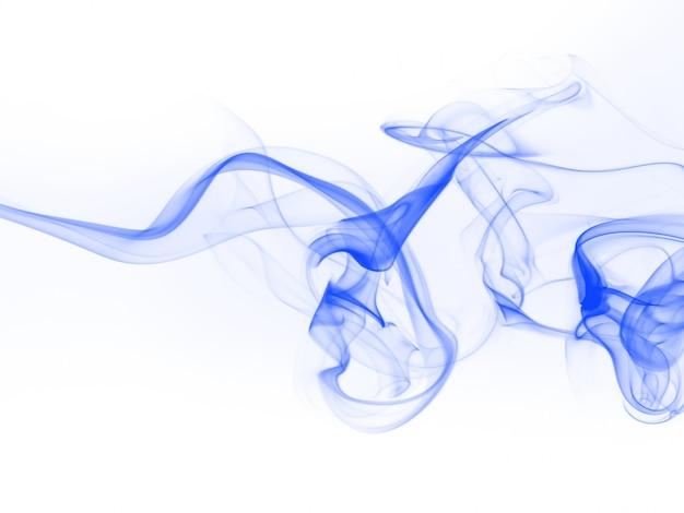 Résumé de fumée bleue sur fond blanc pour la conception