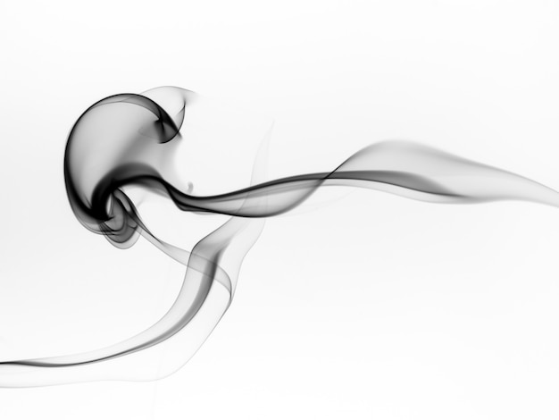 Résumé de fumée noire sur fond blanc, concept d'industrie moteur et pollution bad