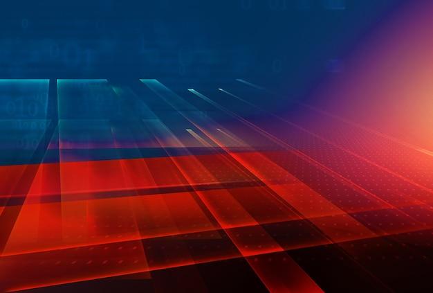 Résumé graphique 3d espace toile de fond thème rouge fond illustration 3d