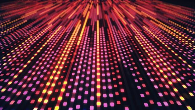 Résumé historique des carrés de néon lumineux