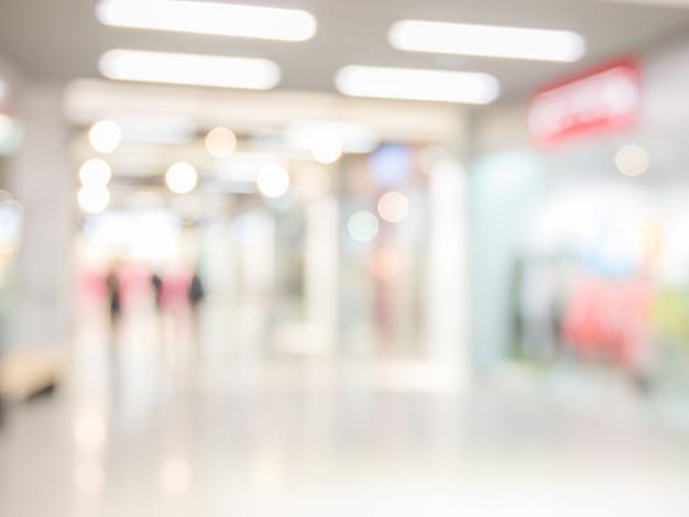 Résumé historique du centre commercial, faible profondeur de champ.