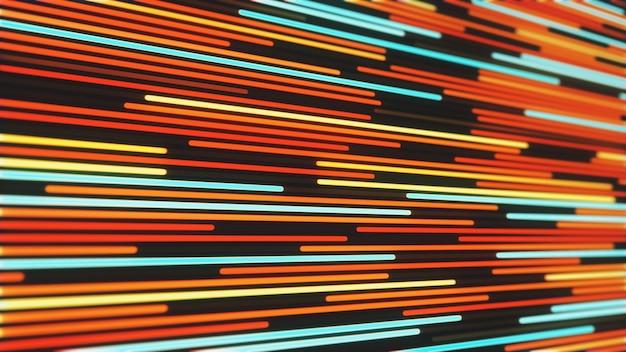 Résumé historique des lignes de néon rougeoyant