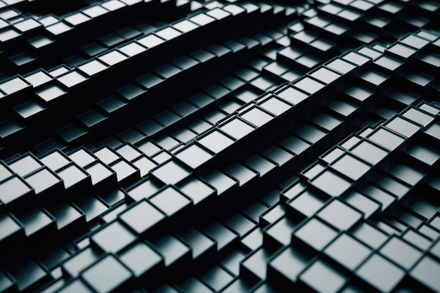 Résumé illustration 3d de cubes se déplaçant de haut en bas