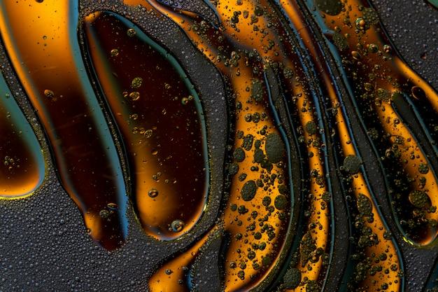 Résumé de macro colorfull monde de bulles en fond de surface de l'eau
