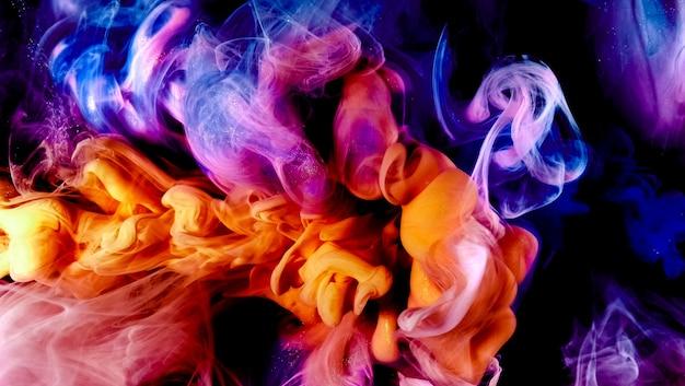Résumé de mélange de couleurs d'encre de nuage