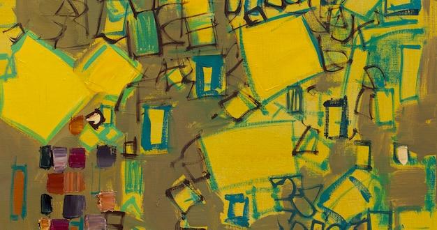 Résumé de la peinture à l'huile gros plan de la peinture fond de peinture abstraite colorée