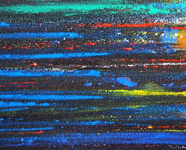 Résumé de peinture de mouvement de lignes colorées avec texture.
