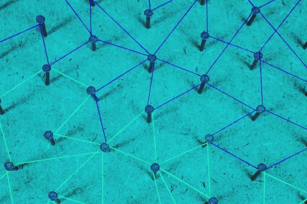Résumé de réseau, médias sociaux, internet et communication de lien.