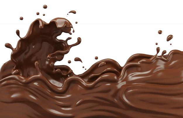 Résumé de splash réaliste au chocolat