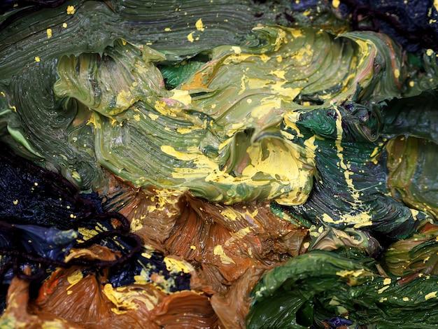 Résumé de texture coloré de peinture à l'huile.
