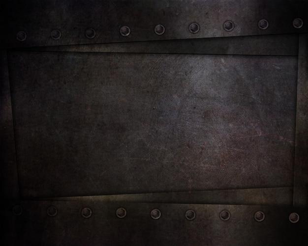 Résumé avec des textures et des rivets de style grunge sombre