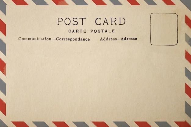 Retour de carte postale vierge par avion