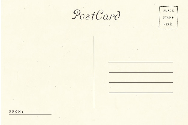Retour de carte postale vierge.