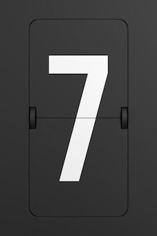Retourner le numéro du tableau de bord noir. rendu 3d