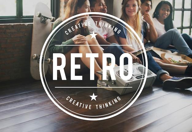 Rétro vintage vector graphic concept