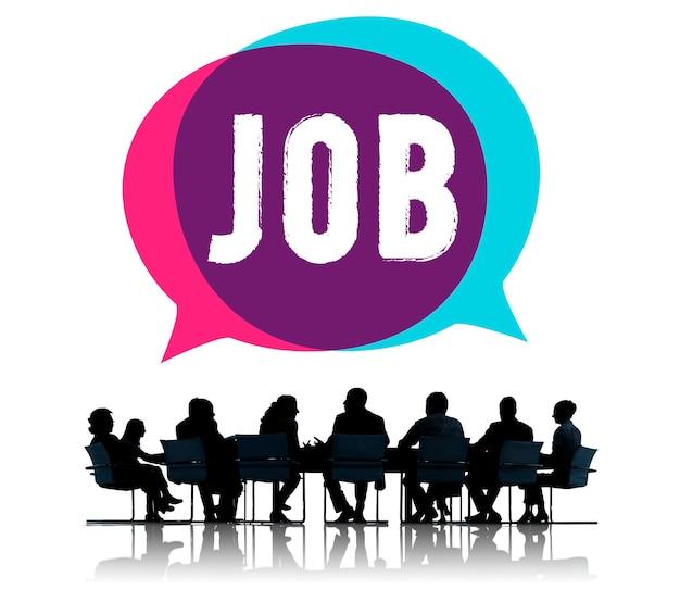 Réunion d'affaires parlant d'emploi