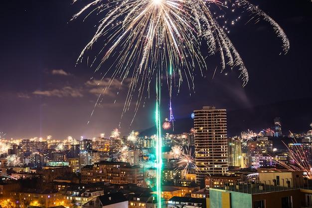 Réunion du nouvel an à tbilissi, géorgie