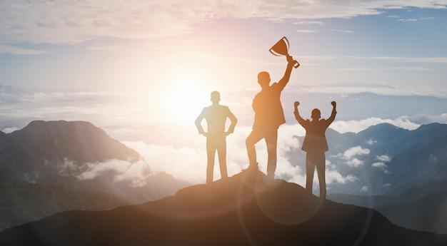 Réussite et concept de réussite des objectifs commerciaux.