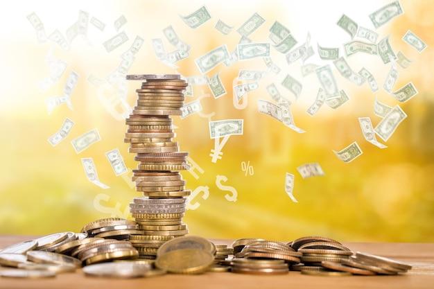 Revenu monétaire pour investir dans votre entreprise à l'avenir.