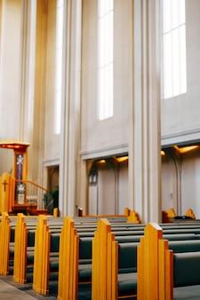 Reykjavik islande peut l'intérieur est à l'intérieur de l'église d'hadlgrimskirkya une église luthérienne à reykjavik