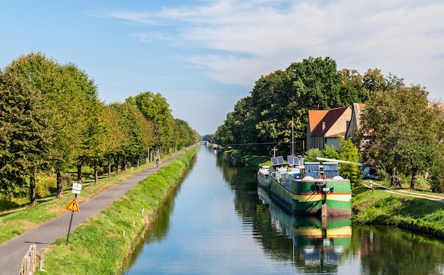 Rhône - canal du rhin en alsace, france