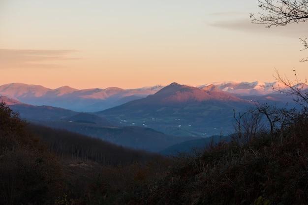 La rhune montagne dans les pyrénées basques, pays basque.