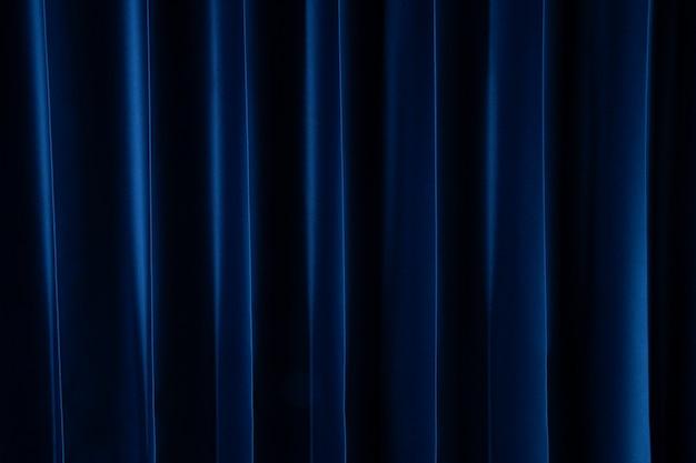 Rideau bleu foncé